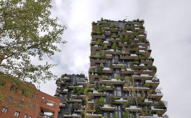 Ozelenjeni stolpnici Bosco Verticale v Milanu.