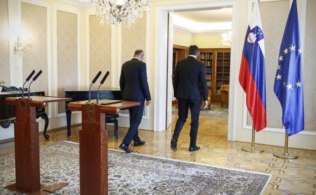 Janez Janša, predsednik stranke SDS, in Borut Pahor, predsednik republike Slovenije. FOTO: Uroš Hočevar
