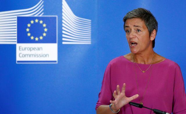 Evropska komisarka za konkurenco Margrethe Vestager je pojasnila vzroke za 111-milijonsko kazen za štiri podjetja. FOTO: Reuters