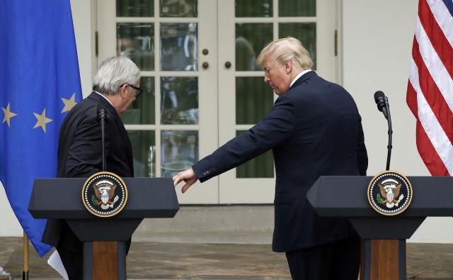 Juncker in Trump. FOTO: Evan Vucci/AP