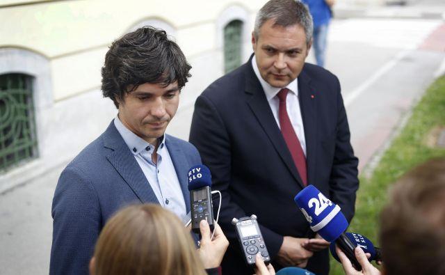 Prvak SD Dejan Židan vidi Luko Mesca kot ministra za socialo. FOTO: Leon Vidic/Delo