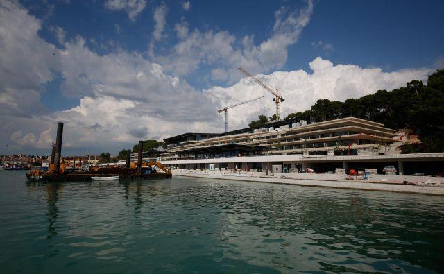 V obnovo Grand hotela Park v Rovinju so vložili 80 milijonov evrov. Foto Goran Sebelić/Cropix