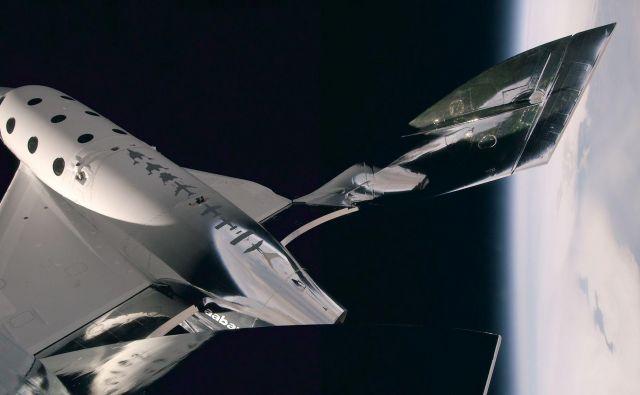 Bi se popeljali z vesoljskim letalom? FOTO: Virgin Galactic