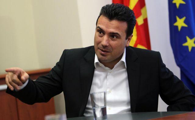Predsednik makedonske vlade Zoran Zaev bo referendum o novem imenu države najverjetneje razpisal v soboto. FOTO: Tomi Lombar/Delo