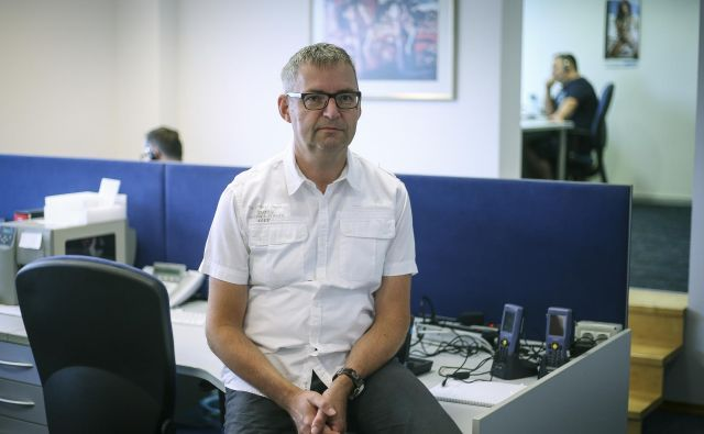 Direktor podjetja VascoTomaž Čebašek pravi, da tisti, ki pri njemu ostanejo prvi dve leti, ostanejo za vedno. FOTO: Jože Suhadolnik