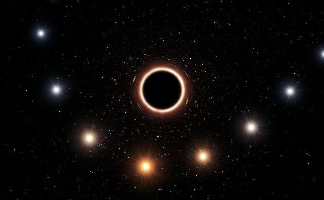 Umetniška upodobitev bližanja zvezde S2 supermasivni črni luknji v središču naše galaksije. FOTO:ESO/M. Kornmesser