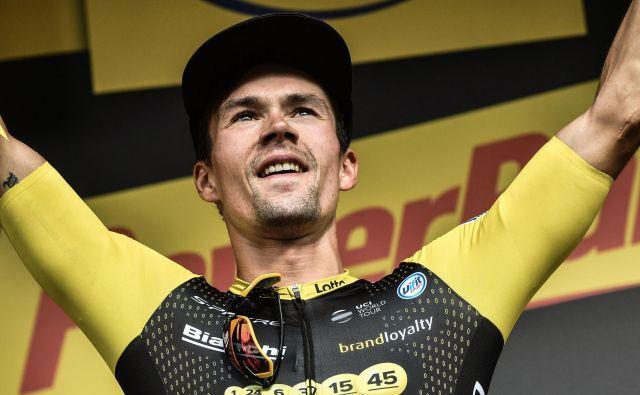 Primož Roglič je drugo leto zapored slavil etapno zmago na Touru.FOTO: Jeff Pachoud/AFP