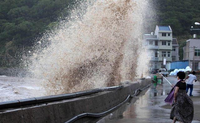 Tajfun Maria, ki je v začetku meseca dosegel Tajvan, na otoku ni povzročil prevelike škode. Zaradi obilnih padavin so s poplavnih območij takrat evakuirali skoraj 3500 oseb. FOTO: China Stringer Network/Reuters