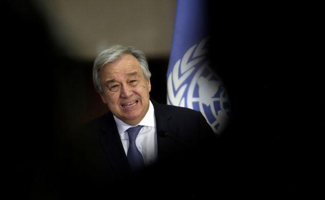 Generalni sekretar OZN António Guterres je opozoril, da se svetovna organizacija ne bi smela nenehno soočati z nevarnostjo bankrota. FOTO: REUTERS/Juan Carlos Ulate