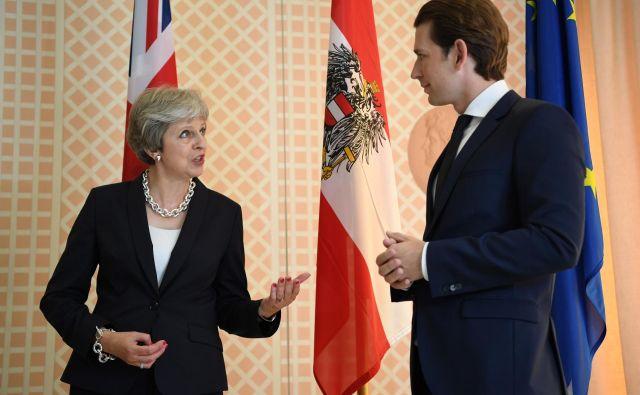 Avstrijski kancler je britanski premierki odsvetoval popolno ločitev Združenega kraljestva od Evropske unije. FOTO: Reuters