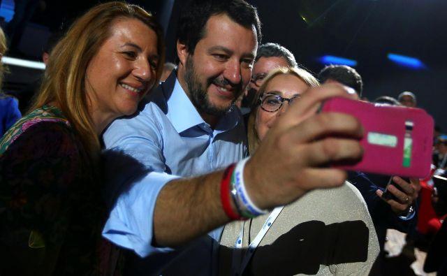 Matteo Salvini vse bolj postaja osrednja figura italijanske politike. FOTO: Reuters