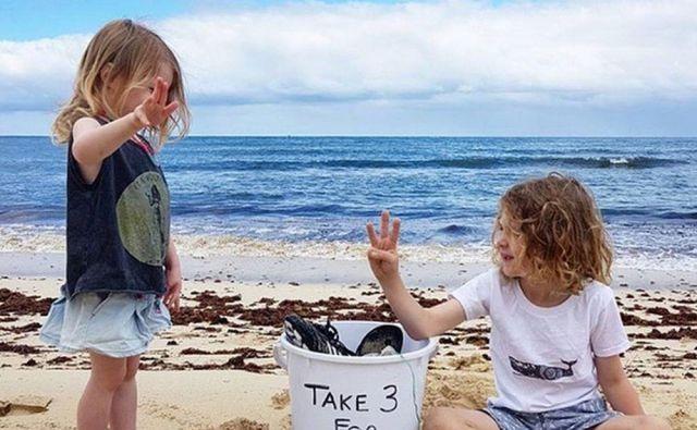 Pozivu o pobiranju smeti na plaži sledijo tudi najmlajši.