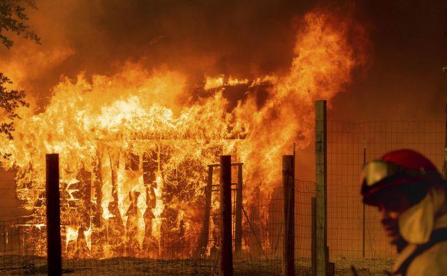 V Kaliforniji divja 17 požarov, na območju celotnih ZDA pa 98. FOTO: Noah Berger/AP