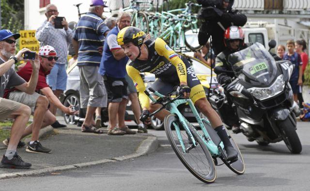 Primož Roglič je slavil že 22 zmag med profesionalci in je dosegel največ med našimi kolesarji. Foto Bob Edmee/Ap