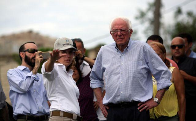 Največja zvezda na levem političnem polu je še vedno 76-letni senator Bernie Sanders. FOTO: Reuters