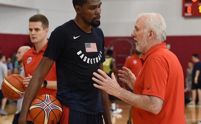 Kevin Durant je prisluhnil nasvetom Gregga Popovicha. Foto USAB