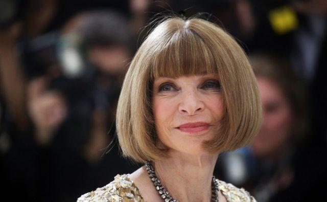 Anna Wintour je glavna urednica ameriškega Voguea že od davnega leta 1988. FOTO: Reuters