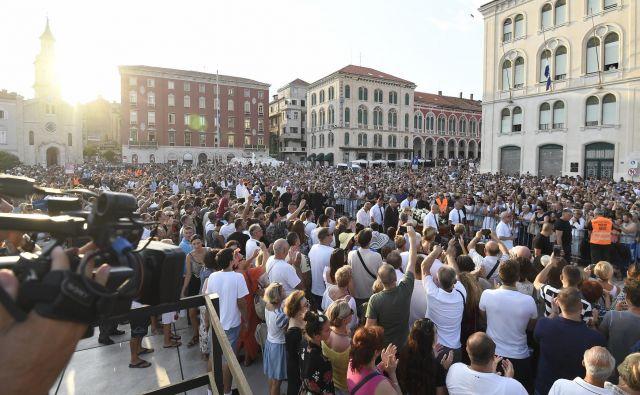 Splitsko slovo od moža, ki je dal glas Dalmaciji.<br /> Foto Ante Čizmić/Cropix