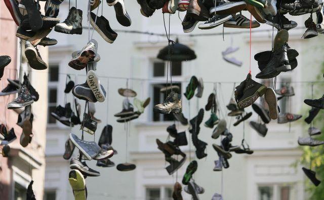 Čevlji v Ljubljani Foto Leon Vidic/delo