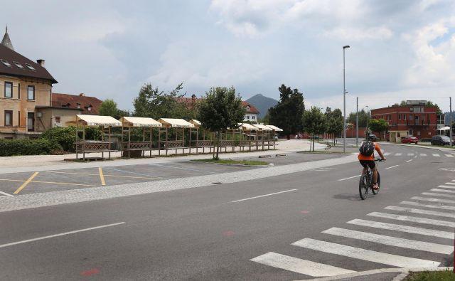 Zemljišče ob Medvoški cesti, kjer bodo uredili tržnico in park. FOTO: Leon Vidic