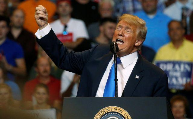 Ameriški predsednik Donald Trump. FOTO: Leah Millis/Reuters