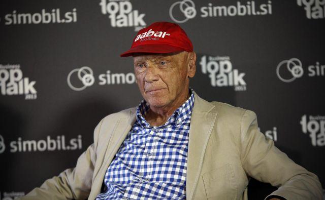 Niki Lauda je pred petimi leti s svojim letalom priletel v Slovenijo. FOTO: Uroš Hočevar