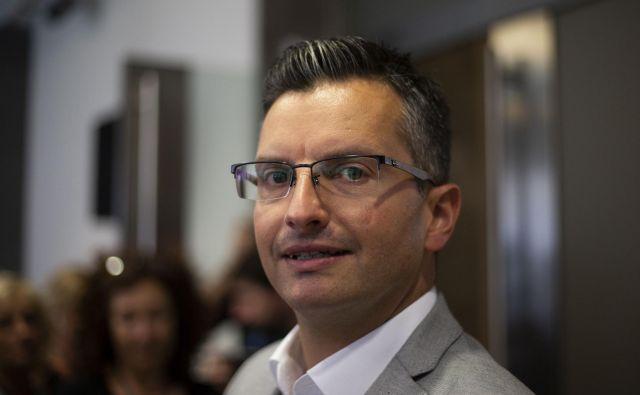 Marjan Šarec je tudi uradno vložil kandidaturo za mandatarja. FOTO: Matej Družnik/Delo