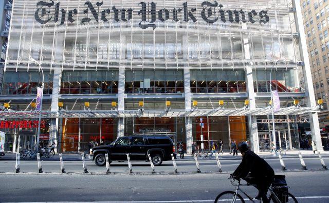 New York Times ima sedaj skupaj 3,8 milijona naročnikov, od tega 2,9 milijona digitalnih, ki plačajo na leto najmanj 98 dolarjev. FOTO:Shannon Stapleton/Reuters