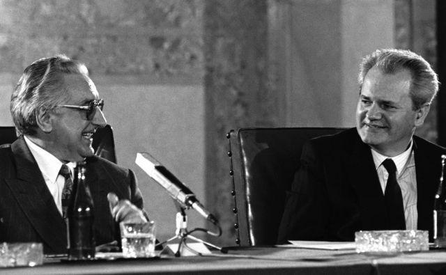 Petindvajsetega marca 1991 sta se Tuđman in Milošević sestala v lovski rezidenci jugoslovanskih vladarjev v Karađorđevu. FOTO: Reuters