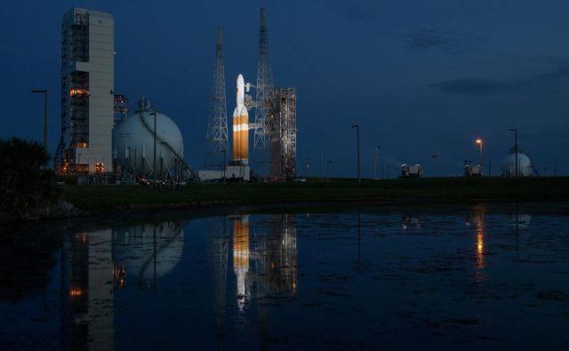 Delta IV Heavy je pripravljena na vzlet. FOTO: Nasa