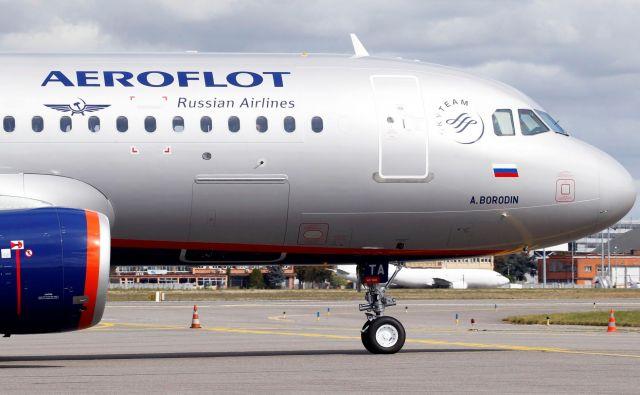 Ruski nacionalni prevoznik Aeroflot naj bi z zimskim voznim redom začel ponovno leteti med Ljubljano in Moskvo. FOTO: Regis Duvignau/Reuters