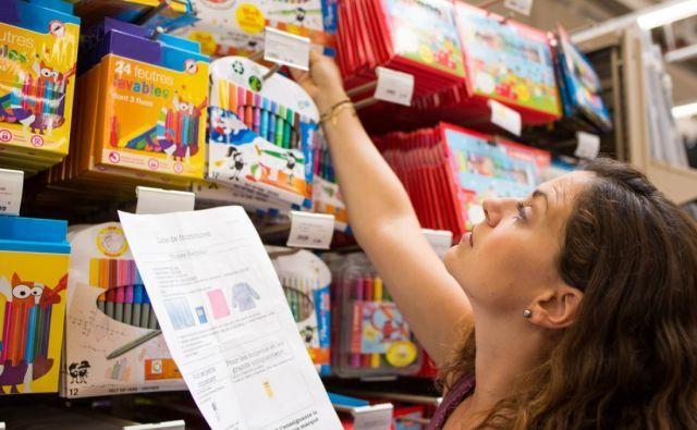 Nakup šolskih potrebščin številne starše pahne v finančno stisko. Foto Shutterstock