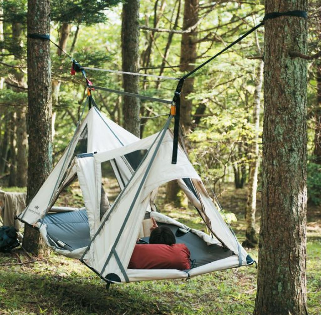Viseča mreža ali šotor?
