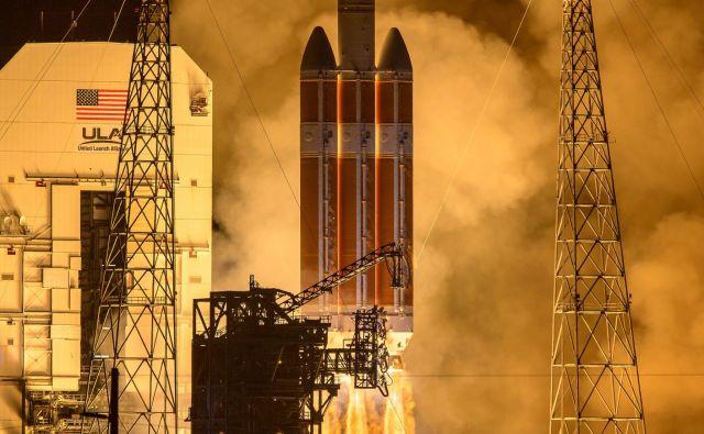 Izstrelitev rakete Delta IV Heavy. Foto Nasa