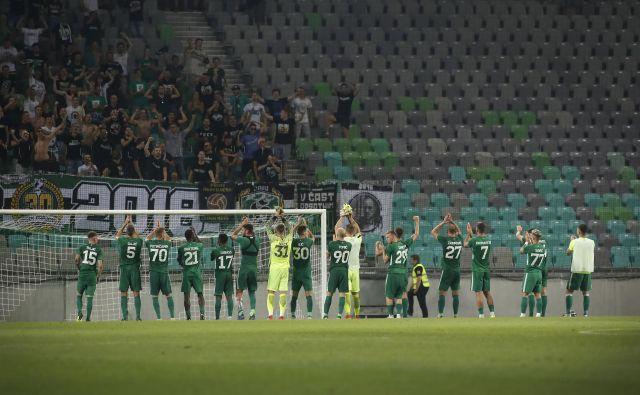 V zeleno-belem taboru želijo odmisliti največji slovenski derbi, ki bo v nedeljo (20.30) v Stožicah, saj jih čaka prej izziv v Helsinkih. Foto Leon Vidic.