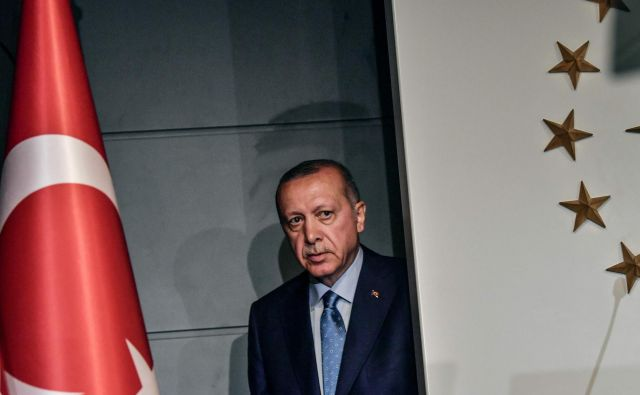 Turški predsednik Recep Tayyip Erdogan FOTO: Bulent Kilic/AFP