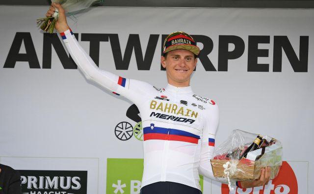 V četrti etapi bo Matej Mohorič dres državnega prvaka zamenjal za zeleno majico. Foto AFP