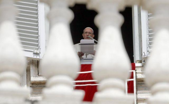 Papež Frančišek FOTO: Andrew Medichini/AP