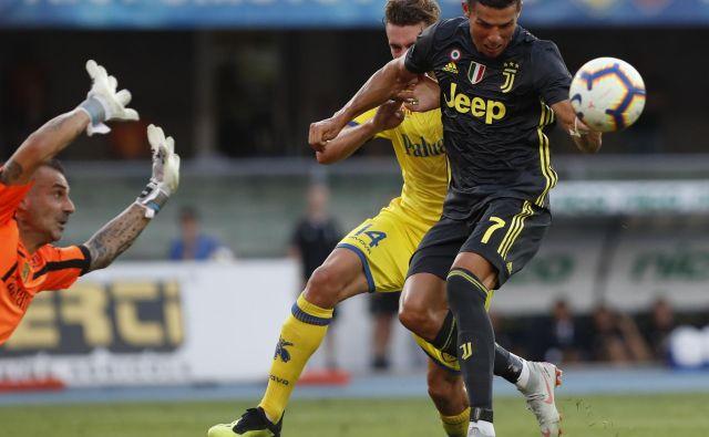 Cristiano Ronaldo na prvi tekmi za Juventus ni dosegel gola, je pa vpisal zmago.