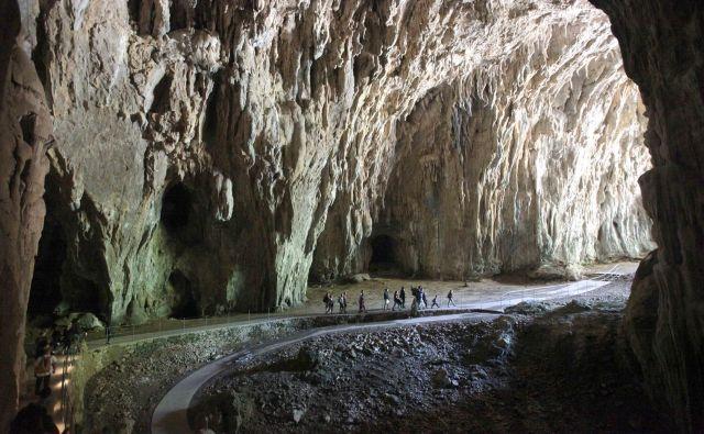 Ko se bližamo izhodu iz jame v Schmidlovi dvorani, začutimo, da okoli nas zaveje topel poletni zrak.<br /> <br /> <em>FOTO</em> Mavric Pivk