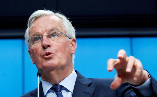Glavni pogajalec evropske komisije za brexit Michel Barnier je prejšnji mesec opozoril britansko stran, da nova pogajalska izhodišča kršijo temeljna načela EU. FOTO: REUTERS/Yves Herman