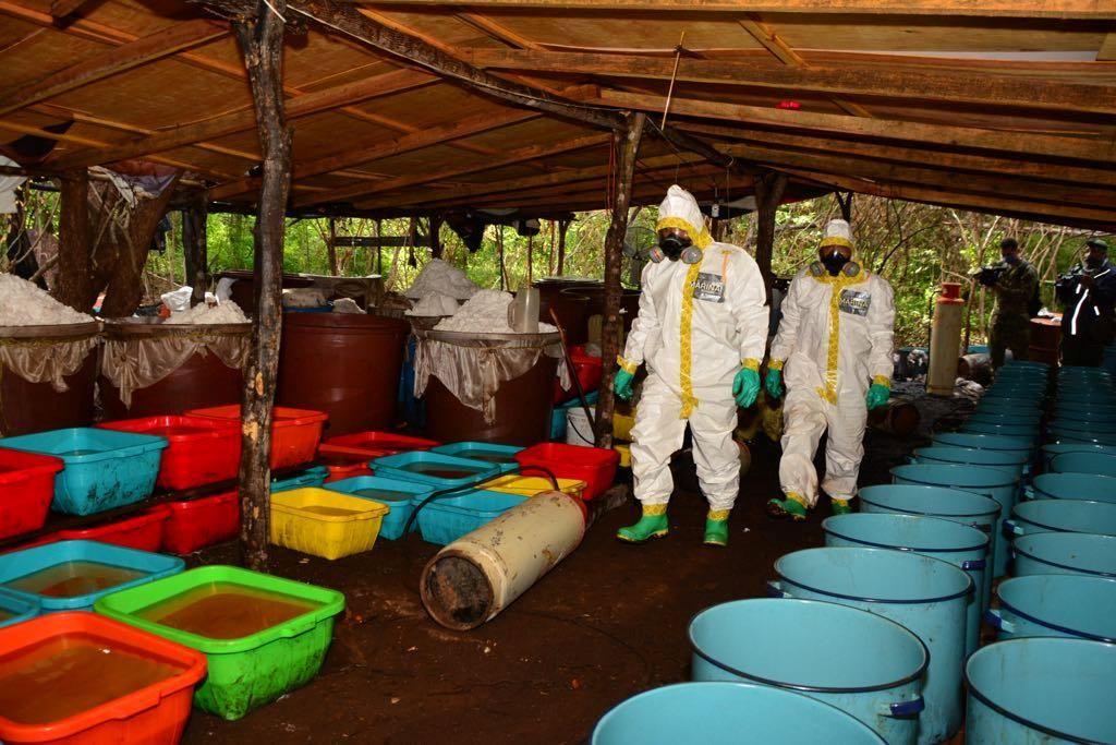 FOTO:Na območju zloglasnega El Chapa odkrili rekordnih 50 ton droge