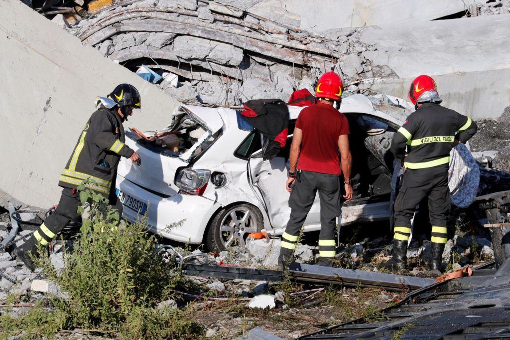 FOTO:Autostrade: poročila govorila o dobrem stanju mostu