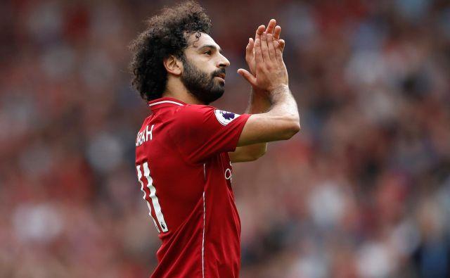 Mo Salah ima za seboj izjemno sezono, formo je prenesel tudi na začetek nove premier lige. FOTO: Reuters