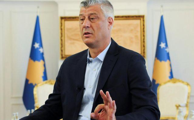 Thaçi ima svojo vizijo mejnih popravkov Kosova. FOTO: Laura Hasani/Reuters