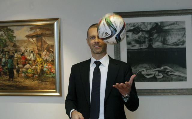 Aleksander Čeferin se bo potegoval za še en mandat. FOTO: Mavric Pivk/Delo