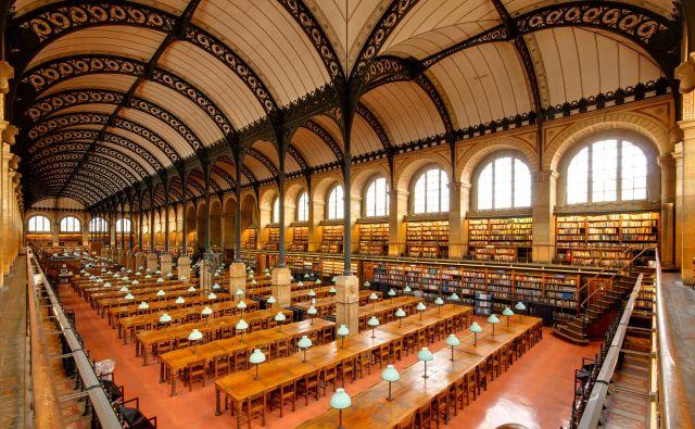 Velika čitalnica svete Genovefe v Parizu se zdi kot katedrala industrijske dobe – z obokano litoželezno konstrukcijo, značilno tudi za nakupovalne galerije in železniške postaje 19. stoletja.