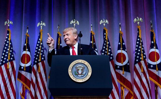 Ameriški predsednik Donald Trump FOTO: AFP