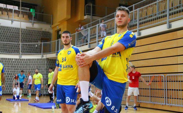 Aleks Vlah (desno), najboljši igralec Kopra, si obeta dobro sezono in komaj čaka sobotno evropsko uverturo na Bonifiki. FOTO: RD Koper 2013