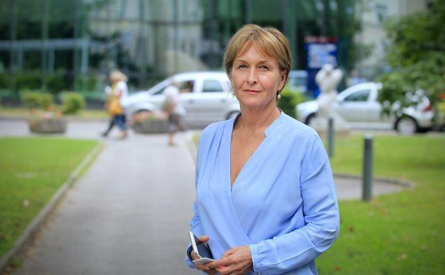Štiblar Kisićeva vztraja, da je njen status generalne direktorice onkološkega inštituta zakonit in legitimen. FOTO: Blaž Samec/Delo